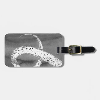 Black and White Tentacle Luggage Tag