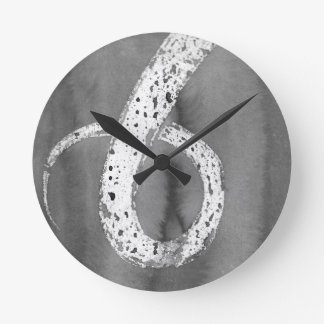 Black and White Tentacle Round Clock