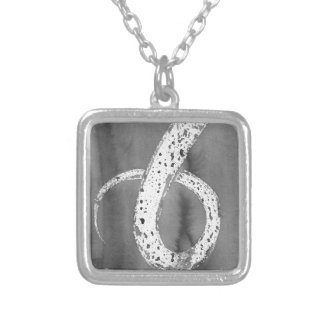 Black and White Tentacle Silver Plated Necklace