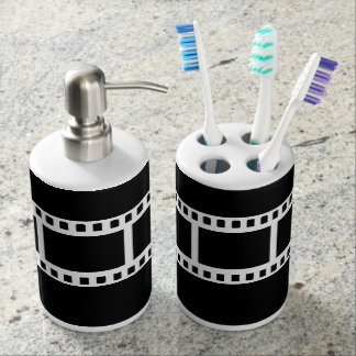 Black and White Theater Drama Bath Decor Bathroom Set