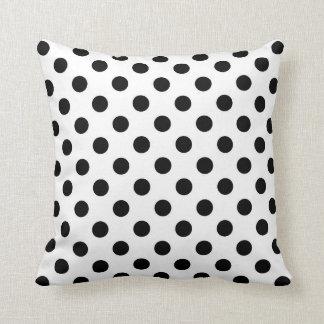 Black and White Throw Pillow, Polka Dots Throw Pillow