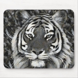 Black and White Tiger Mousepad