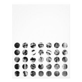 Black and White Tiger Polka Dots pattern 21.5 Cm X 28 Cm Flyer