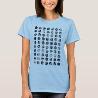 Black and White Tiger Polka Dots pattern T-Shirt