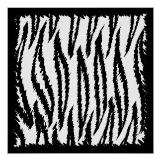 Black and White Tiger Print Pattern.