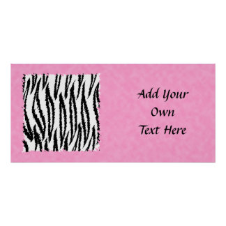 Black and White Tiger Print Pattern.