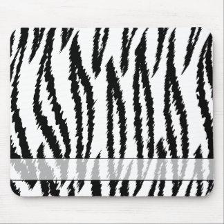 Black and White Tiger Print. Tiger Pattern. Mousepad