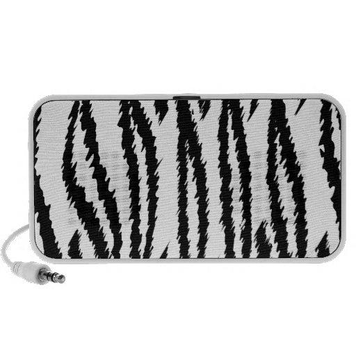 Black and White Tiger Print. Tiger Pattern. Mini Speakers