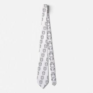 Black And white tiger tie. Tie