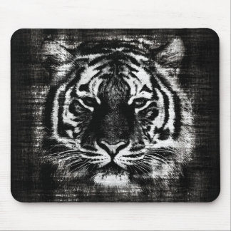 Black and White Tiger Vintage Mousepad