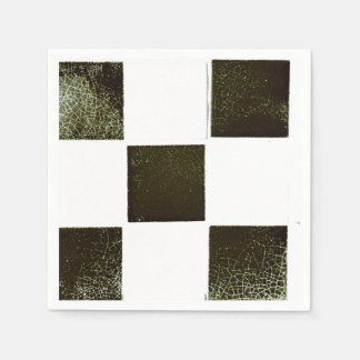 Black and white tiles paper serviette disposable napkin