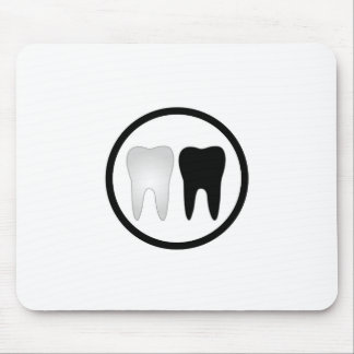 Black and white tooth mouse pad