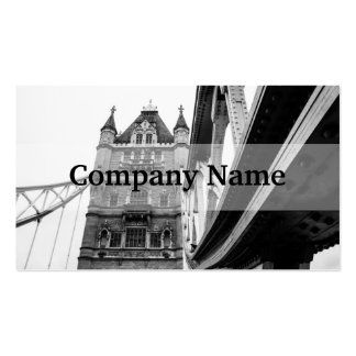 Black and White Tower Bridge Closeup, London Pack Of Standard Business Cards