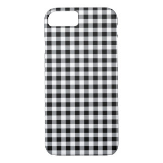 Black and white traditional Gingham pattern case