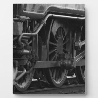 Black And White Train Plaque