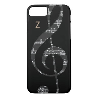 black and white treble clef iPhone 7 case