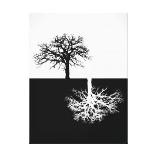 Black and white tree canvas