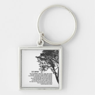 Black and White Tree Do It Anyway Key Ring