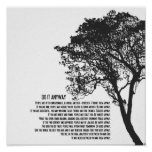 Black and White Tree Do It Anyway Poster