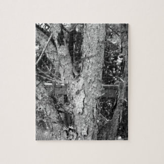 Black and White Tree Nature Photo Jigsaw Puzzle
