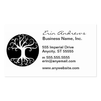 Black and White Tree of Life Pack Of Standard Business Cards