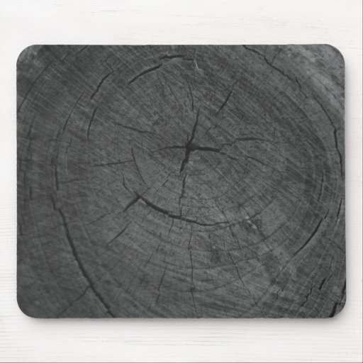 Black and white tree rings mousepads