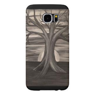 Black and white tree samsung galaxy 6 phone case