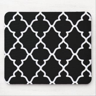 Black and White Trellis...mousepad Mouse Pad