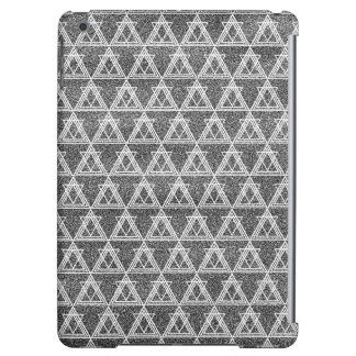 Black and White Triangle Geometric Pattern