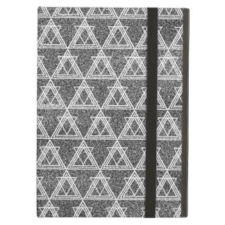 Black and White Triangle Geometric Pattern iPad Air Cases
