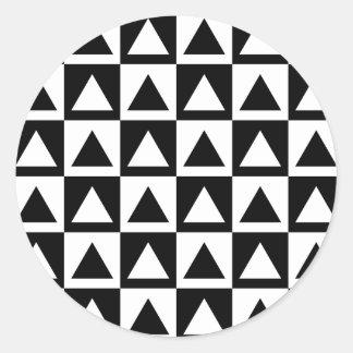 Black and White triangle geometric shape pattern Stickers