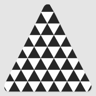 Black and white triangle sticker glossy