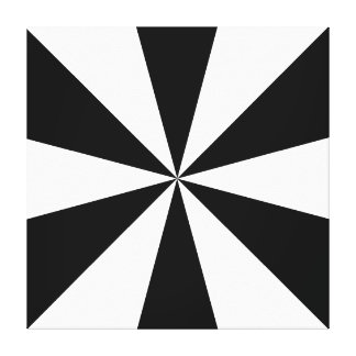 Black and white triangles canvas stretched canvas prints