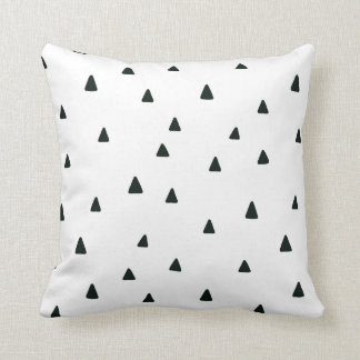 Black and White Triangles Pillow