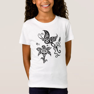 Black and white tribal butterfly T-Shirt