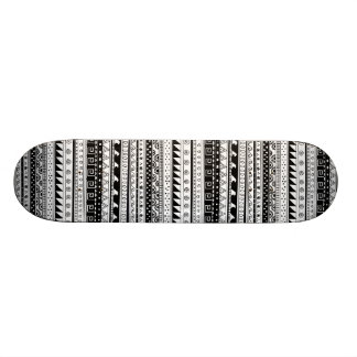 Black and white Tribal pattern 21.6 Cm Skateboard Deck