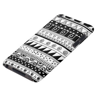 Black and white Tribal pattern iPod Case-Mate Cases