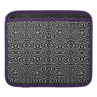 Black and White Tribal Pattern iPad Sleeve