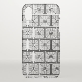 Black and White Tribal Pattern iPhone X Case