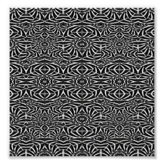 Black and White Tribal Pattern Photo Print