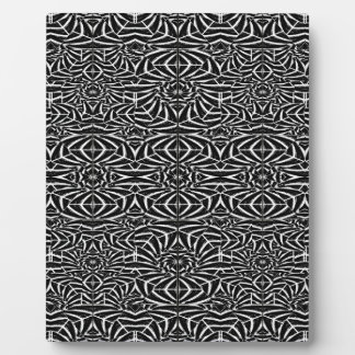 Black and White Tribal Pattern Plaque