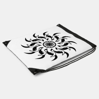 Black And White Tribal Sun Southwest Cinch Bag