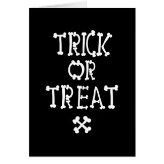 Black And White Trick Or Treat Card