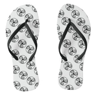 Black and White Triskelion Thongs