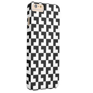 Black and white Tromino Barely There iPhone 6 Plus Case