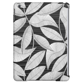 Black and white tropical leaf