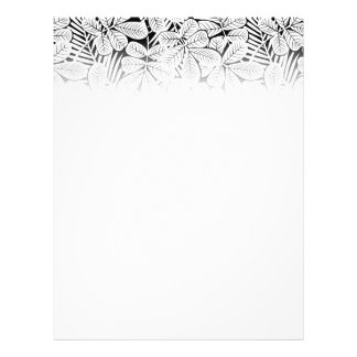 Black and white tropical plants flyer