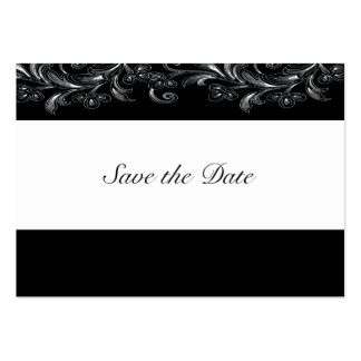 Black and White Tropical Vines Save The Date Cards Business Card