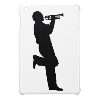 Black and White Trumpet Jazz Musician Case For The iPad Mini