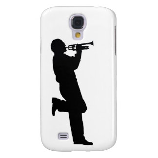 Black and White Trumpet Jazz Musician Galaxy S4 Covers